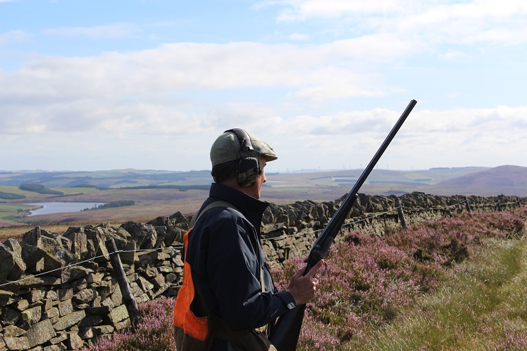 Sean experiencing his first walked up grouse shooting
