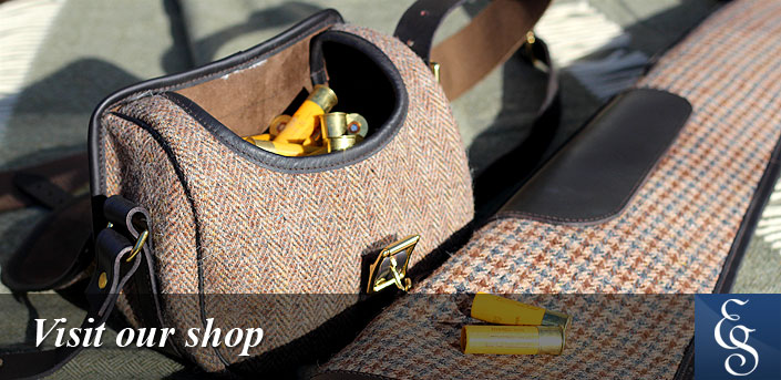 Luxury Tweed clothing, cartridge bags, gunslips and more, all from the Scottish Borders